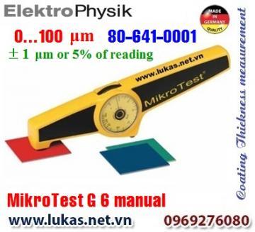 Đo độ dày lớp phủ MikroTest 6 G Automatic, 80-641-0001