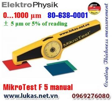 Đo độ dày lớp phủ MikroTest 5 F manual, 80-638-0001
