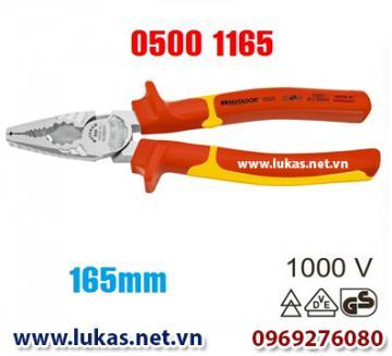 Kìm cách điện đa năng 165mm (VDE) - 1000V, 0500 1165, Matador - Germany