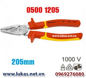 Kìm cách điện đa năng 205mm (VDE) - 1000V, 0500 1205, Matador - Germany