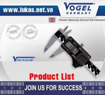 Danh mục thiết bị đo lường Vogel - Germany