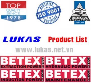 Danh mục dụng cụ thủy lực Bega BETEX - Hà Lan