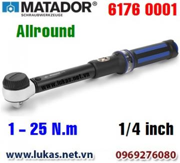 Cờ lê lực 6176 0001, 1 - 25 N.m, 1/4 inch - ALLROUND, Matador