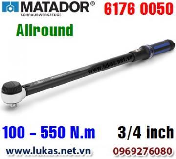 Cờ lê lực 6176 0050, 100 - 550 N.m, 3/4 inch - ALLROUND, Matador