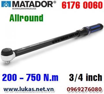 Cờ lê lực 6176 0060, 200 - 750 N.m, 3/4 inch - ALLROUND, Matador