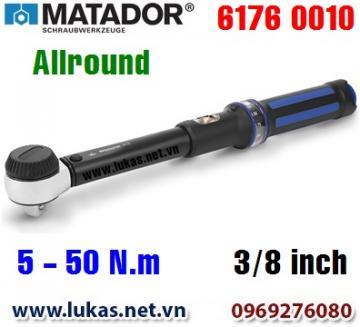 Cờ lê lực 6176 0010, 5 - 50 N.m, 3/8 inch - ALLROUND, Matador