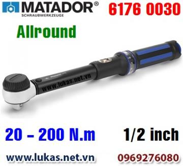 Cờ lê lực 6176 0030, 20 - 200 N.m, 1/2 inch - ALLROUND, Matador