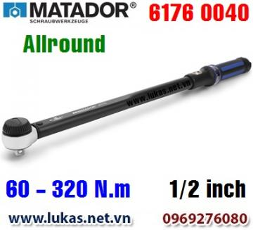 Cờ lê lực 6176 0040, 60 - 320 N.m, 1/2 inch - ALLROUND, Matador