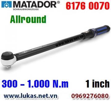 Cờ lê lực 6176 0070, 300 - 1000 N.m, 1 inch - ALLROUND, Matador