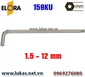Lục giác đầu bi, loại dài, hệ mét 159KU - Elora