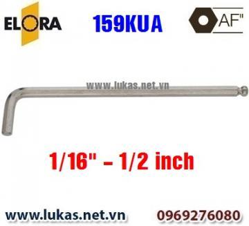 Lục giác đầu bi, loại dài, hệ inch 159KUA - Elora