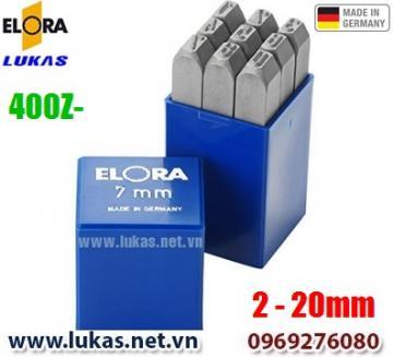 Các bộ đục số ELORA 400Z series từ 2mm đến 20mm