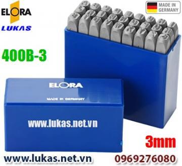 Bộ đục chữ 3mm bằng thép hợp kim - ELORA 400B-3