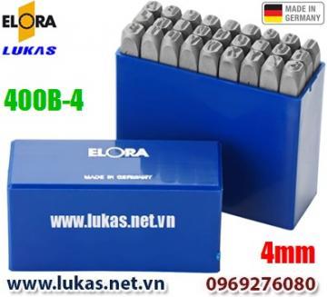 Bộ đục chữ 4mm bằng thép hợp kim - ELORA 400B-4