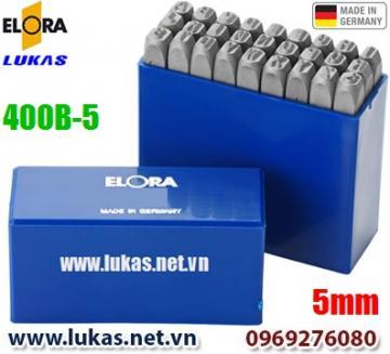 Bộ đục chữ 5mm bằng thép hợp kim - ELORA 400B-5