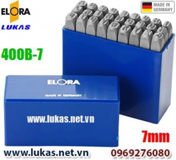 Bộ đục chữ 7mm bằng thép hợp kim - ELORA 400B-7