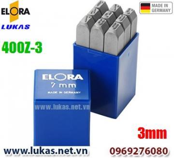 Bộ đục số 3mm bằng thép hợp kim - ELORA 400-Z3