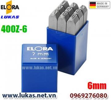 Bộ đục số 6mm bằng thép hợp kim - ELORA 400Z-6