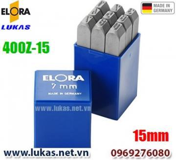 Bộ đục số 15mm bằng thép hợp kim - ELORA 400-Z15