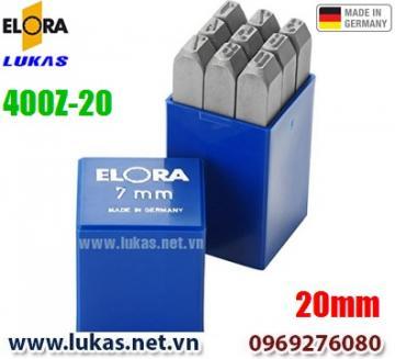 Bộ đục số 20mm bằng thép hợp kim - ELORA 400-Z20