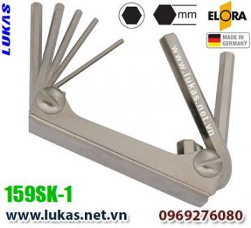 Bộ lục giác hệ mét 6 cây từ 2.5mm đến 8mm - ELORA 159SK-1