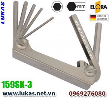 Bộ lục giác hệ mét 7 cây từ 1.5mm đến 6mm - ELORA 159SK-3