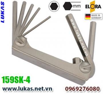 Bộ lục giác hệ mét 6 cây từ 3mm đến 10mm - ELORA 159SK-4