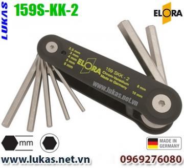Bộ lục giác hệ mét 7 cây từ 2.5mm đến 10mm - ELORA 159S-KK-2