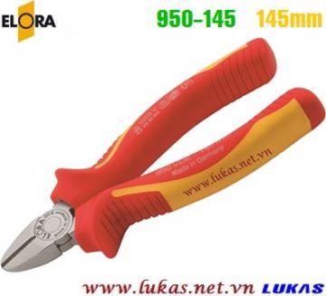 Kìm cắt cách điện 145mm VDE 1000V, ELORA 950-145