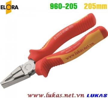 Kìm cách điện đa năng 205mm VDE 1000V, ELORA 960-205