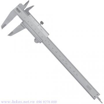 Thước cặp cơ khí 300mm khóa bằng vít, DIN 862 Vogel 201013
